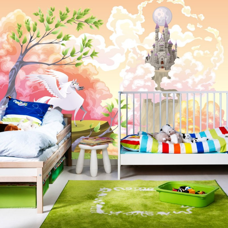 fototapete kinderzimmer einhorn bibkunstschuur. Black Bedroom Furniture Sets. Home Design Ideas