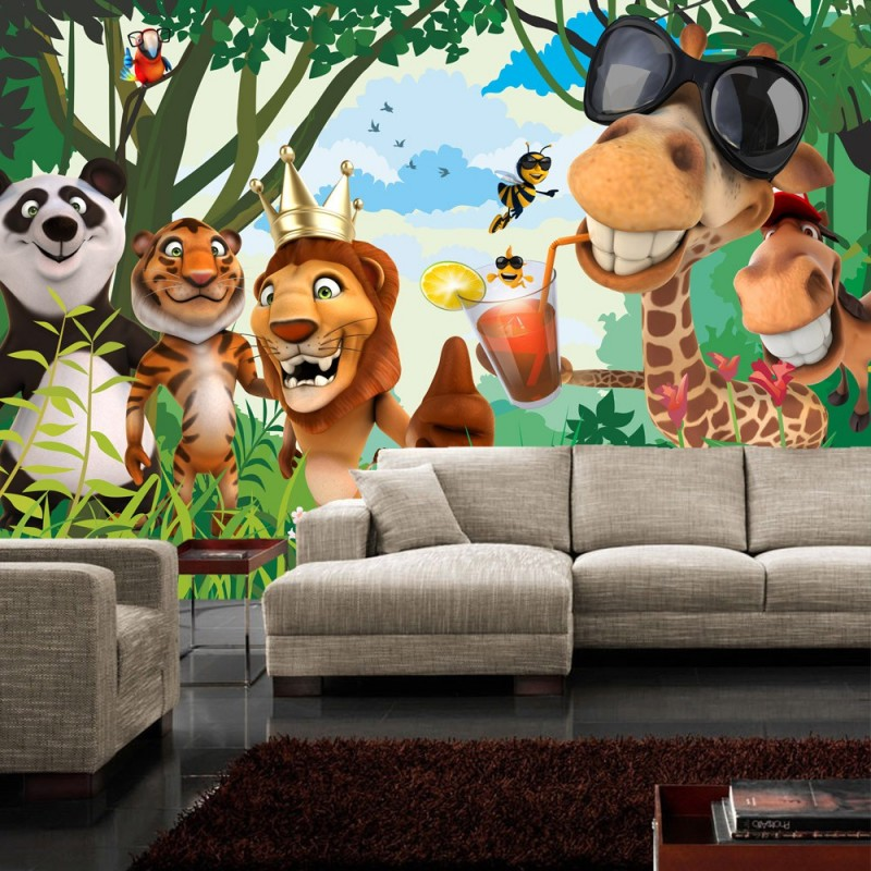 kinderzimmer tapete jungle bibkunstschuur. Black Bedroom Furniture Sets. Home Design Ideas