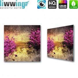 Glasbild ''no. 2112'' | Kunst Glasbild Splash Malerei Abstrakt lila | liwwing (R)