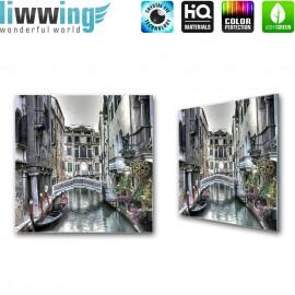 Glasbild ''no. 1486'' | Venedig Glasbild Stadt Gasse Wasser Italien grau | liwwing (R)