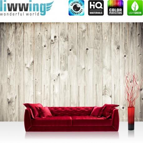 "Vlies Fototapete ""weathered wood plank"" | Holz Tapete Holzoptik Holzwand Holzpaneel Holz weiß"