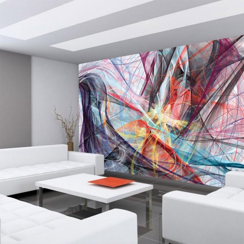 vlies fototapete no 3173 vliestapete liwwing r kunst tapete abstrakt modern wellen. Black Bedroom Furniture Sets. Home Design Ideas