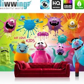 PREMIUM Fototapete - no. 92 | Lovely Monsters | Kinderzimmer Kindertapete Comic Knuddel Monster