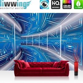 Vlies Fototapete no. 3211   3D Tapete Space, Raumstation, Micro blau   liwwing (R)