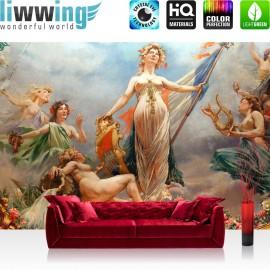 "Vlies Fototapete ""classical Fresco - Cahors Theater"" | Kunst Tapete Fresco Frankreich Wandgemälde Wandmalerei bunt"