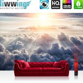 Vlies Fototapete no. 3222 | Himmel Tapete Sonne, Sonnenstrahlen, Wolken weiß | liwwing (R)