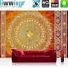 Vlies Fototapete no. 3232 | Ornamente Tapete Mandala, Sterne, Perlen rot | liwwing (R)