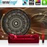 Vlies Fototapete no. 3239   Ornamente Tapete Mandala, Sterne, Perlen braun   liwwing (R)
