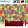 Vlies Fototapete no. 3240 | Cartoon Tapete Puzzle, farbenfroh, mehrfarbig bunt | liwwing (R)