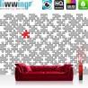 Vlies Fototapete no. 3242 | Cartoon Tapete Puzzle, grau, rot, mehrfarbig bunt | liwwing (R)
