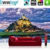 Vlies Fototapete no. 3243 | Frankreich Tapete Le Mont-Saint-Michel, Puzzle, Meer, Küste bunt | liwwing (R)
