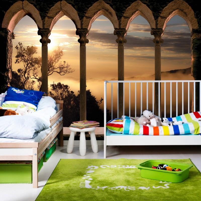 vlies fototapete no 3252 vliestapete liwwing r landschaft tapete b ume berge nebel. Black Bedroom Furniture Sets. Home Design Ideas