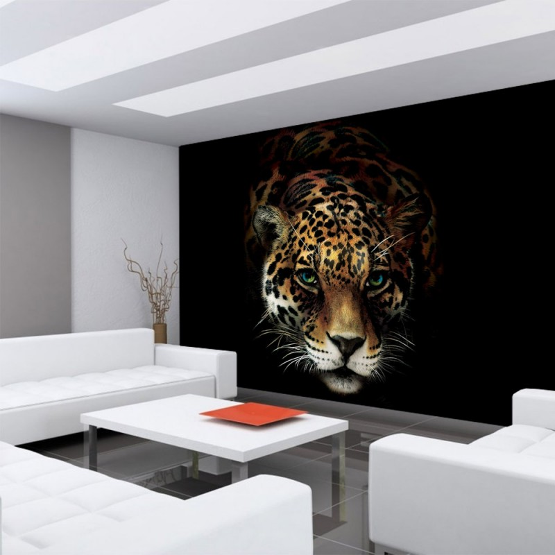 vlies fototapete no 3257 vliestapete liwwing r tiere tapete jaguar leopard raubkatze bunt. Black Bedroom Furniture Sets. Home Design Ideas