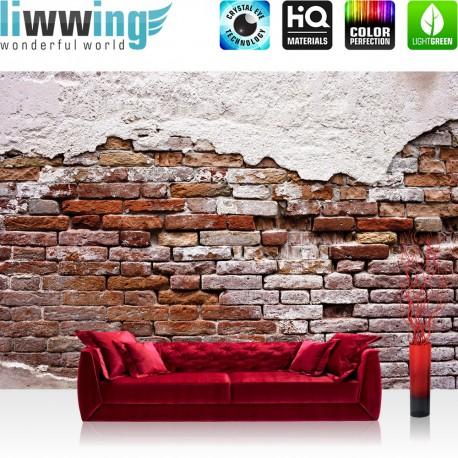backsteinmauer 3258 steinwand tapete putz rustikal vintage rot weiss streichen