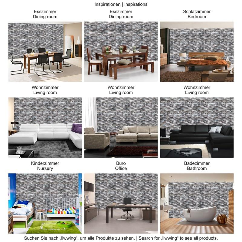 3260 | Steinwand Tapete Naturstein, Marmor, Klinker Grau | Liwwing ...