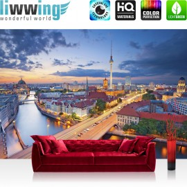 Vlies Fototapete no. 3272 | Stadt Tapete Berlin, Fernsehturm, Invalidendom, Rotes Rathaus natural | liwwing (R)