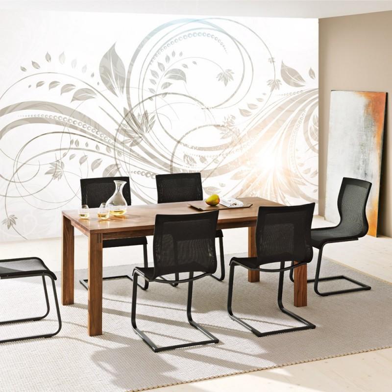 vlies fototapeten vlies fototapete floral ornaments reflexion. Black Bedroom Furniture Sets. Home Design Ideas