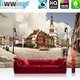 Vlies Fototapete no. 3273 | Stadt Tapete Altstadt, Springbrunnen, Mittelalter, Renaissance natural | liwwing (R)