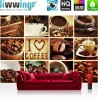Vlies Fototapete no. 3279 | Kulinarisches Tapete Kaffee, Barista, Kaffeebohnen, Rahmen weiß braun | liwwing (R)