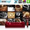 Vlies Fototapete no. 3280 | Kulinarisches Tapete Kaffee, Barista, Kaffeebohnen, Rahmen schwarz schwarz - weiß | liwwing (R)