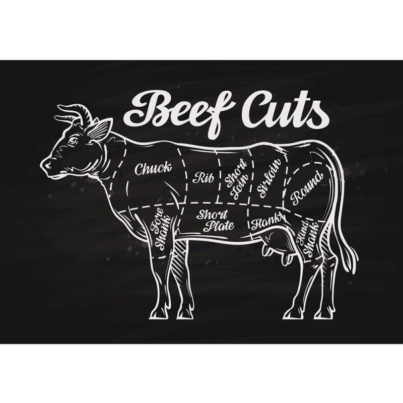 vlies fototapete no 3281 vliestapete liwwing r kulinarisches tapete beef cuts rind. Black Bedroom Furniture Sets. Home Design Ideas