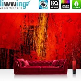 PREMIUM Fototapete - no. 103 | Paint it Red | abstrakt 3D Wand Rot braun Hintergrund