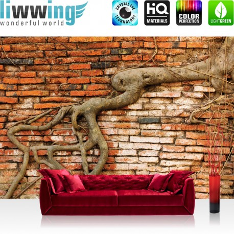 backsteinmauer 3289 steinwand tapete wurzel rustikal vintage rot bauen anleitung