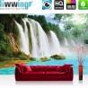 Vlies Fototapete no. 3296 | Wasser Tapete Wasserfall, Dschungel, See, Fluss, Tropen bunt | liwwing (R)