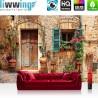 Vlies Fototapete no. 3298 | Stadt Tapete Mittelmeer, mediterran, Haus, Tür natural | liwwing (R)