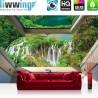 Vlies Fototapete no. 3302 | Wasser Tapete Wasserfall, See, Fluss, Wald natural | liwwing (R)