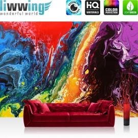PREMIUM Fototapete - no. 106 | Rainbow Wall | Bunt Abstrakt Hintergrund Dekoration
