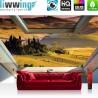 Vlies Fototapete no. 3320 | Landschaft Tapete Hügel, Felder, mediterran, Abend, Fenster natural | liwwing (R)