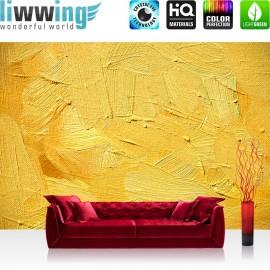PREMIUM Fototapete - no. 107 | Wall of yellow shades | Wand Spachtel Hintergrund farbige Wand gelb