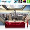 Vlies Fototapete no. 3324 | Skylines Tapete Manhattan, Hudson River, Wolkenkratzer, Fenster bunt | liwwing (R)
