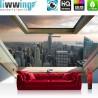 Vlies Fototapete no. 3325 | Skylines Tapete Manhattan, Hudson River, Wolkenkratzer, Abend, Fenster bunt | liwwing (R)