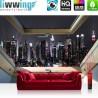 Vlies Fototapete no. 3326   Skylines Tapete Manhattan, Wolkenkratzer, Nacht, Fenster anthrazit   liwwing (R)