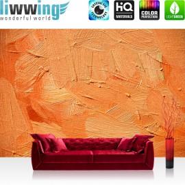 PREMIUM Fototapete - no. 108 | Wall of orange shades | Wand Spachtel Hintergrund farbige Wand orange
