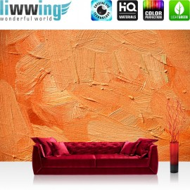 "Vlies Fototapete ""Wall of orange shades"" 