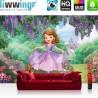 Vlies Fototapete no. 3334 | Disney Tapete Sofia die Erste, Kalle, Schloss lila | liwwing (R)