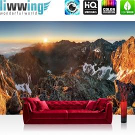 Vlies Fototapete no. 3351 | Berge Tapete Abendhimmel, Gebirge, Hochalpen, Sonnenaufgang natural | liwwing (R)