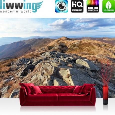 Vlies Fototapete no. 3352 | Berge Tapete Gebirge, Bergkamm, Felsen natural | liwwing (R)