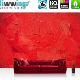 PREMIUM Fototapete - no. 110 | Wall of red shades | Wand Spachtel Hintergrund farbige Wand rot