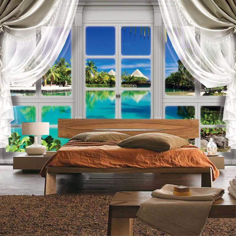 vlies fototapete no 3402 vliestapete liwwing r meer tapete mittelmeer see strand karibik. Black Bedroom Furniture Sets. Home Design Ideas