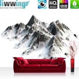Vlies Fototapete no. 3403 | Berge Tapete Hochgebirge, Gebirge, Alpen, Himalaya, Schnee weiß | liwwing (R)