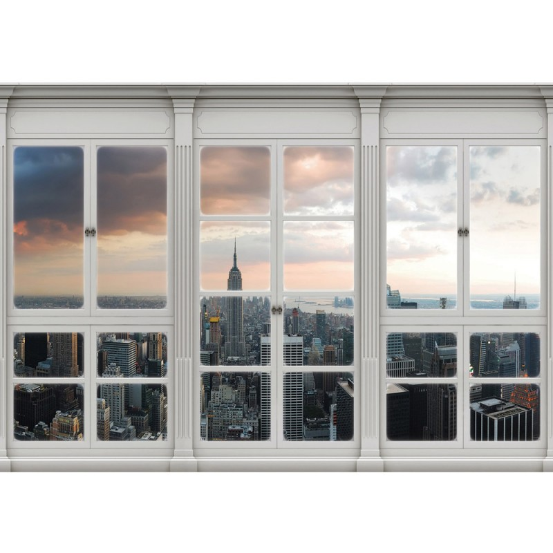 Fototapete fensterblick skyline  Vlies Fototapete no. 3412 | Vliestapete liwwing (R) New York ...