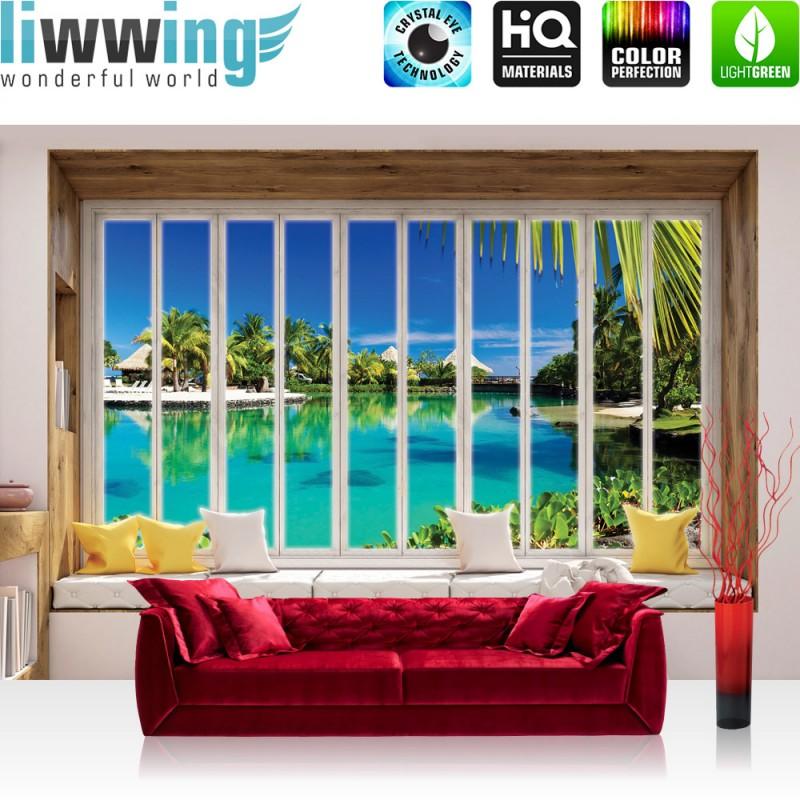vlies fototapete no 3428 vliestapete liwwing r meer tapete mittelmeer strand karibik. Black Bedroom Furniture Sets. Home Design Ideas
