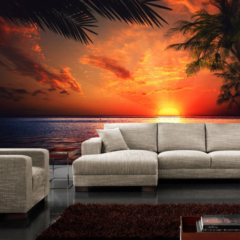 fototapete sonnenuntergang strand. Black Bedroom Furniture Sets. Home Design Ideas