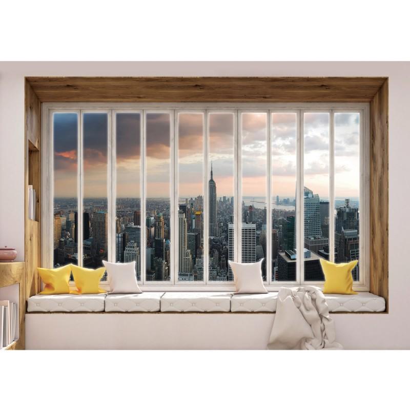 Fototapete fensterblick skyline  Vlies Fototapete no. 3439 | Vliestapete liwwing (R) New York ...