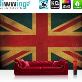 Vlies Fototapete no. 3449 | Texturen Tapete Union Jack, Flagge, UK, Großbritannien bunt | liwwing (R)