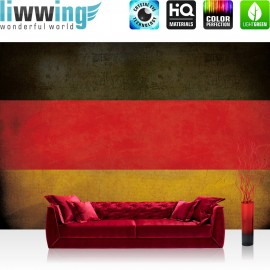 Vlies Fototapete no. 3450 | Texturen Tapete Schwarz-Rot-Gold, Flagge, Deutschland, BRD bunt | liwwing (R)